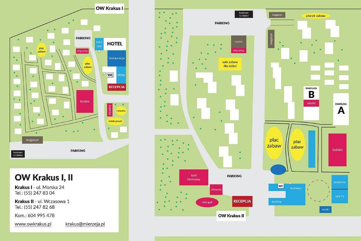 Mapa Osrodka Krakus